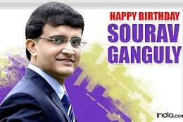 sourav ganguly birth day